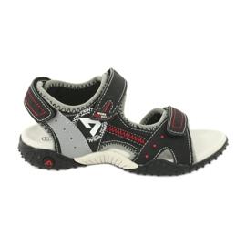 Sandałki chłopięce sportowe American Club RL19/19 czarne czerwone