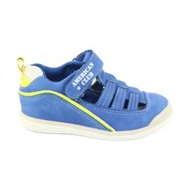 Sandałki chłopięce rzep American Club GC12/20 wielokolorowe niebieskie