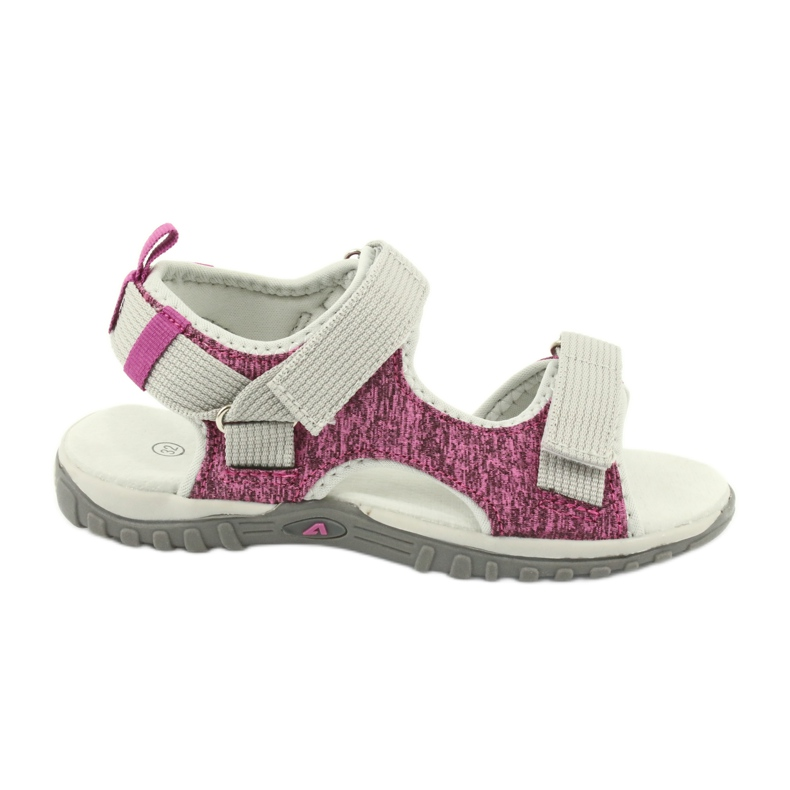 Sandałki z wkładką skórzaną American Club RL25/20 różowe szare