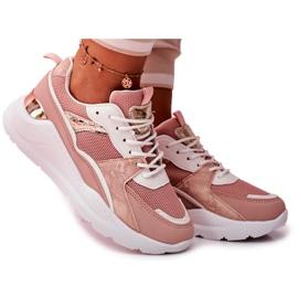 SEA Sportowe Damskie Buty Sneakersy Biało Różowe Martina