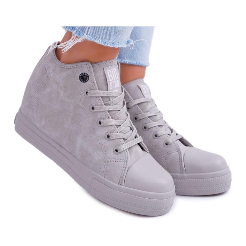 Sneakersy Damskie Big Star Szare EE274122