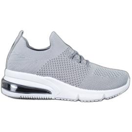 Sweet Shoes Tekstylne Buty Sportowe szare