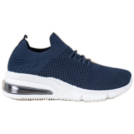 Sweet Shoes Tekstylne Buty Sportowe niebieskie