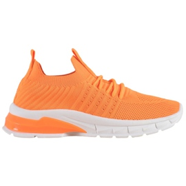 Bella Paris Ażurowe Sneakersy pomarańczowe