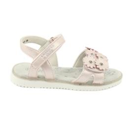 Sandałki perliste cekiny American Club XD10/20 różowe