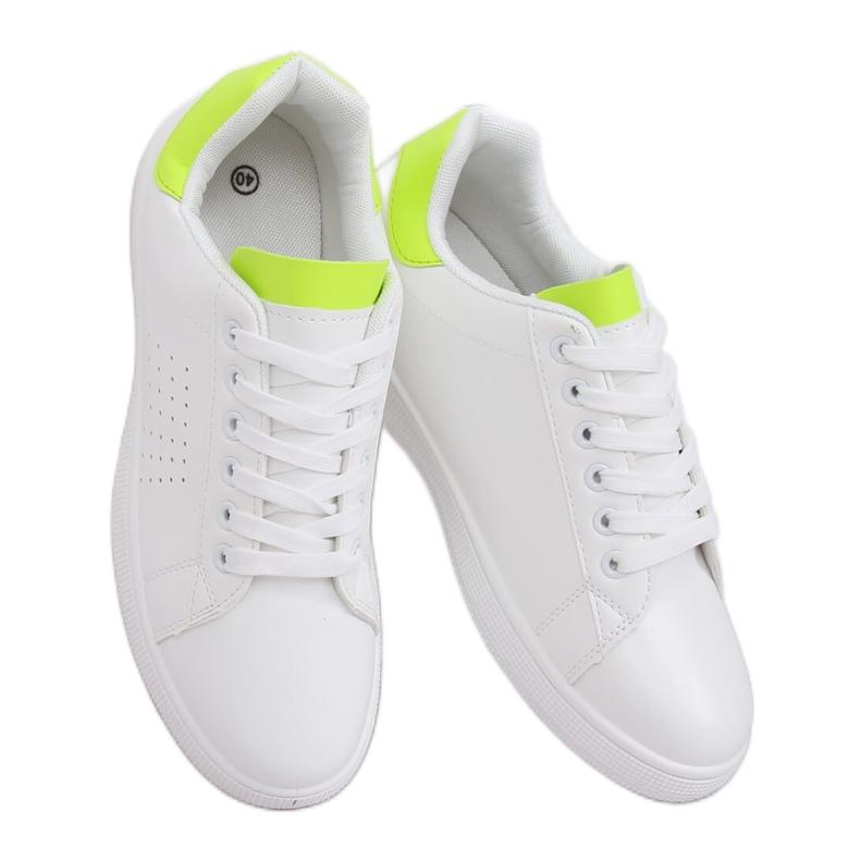 Trampki damskie biało-neonowe LV101P Flugreen białe żółte