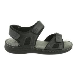 Komfortowe sandały sportowe skórzane American Club CY13/20 czarne