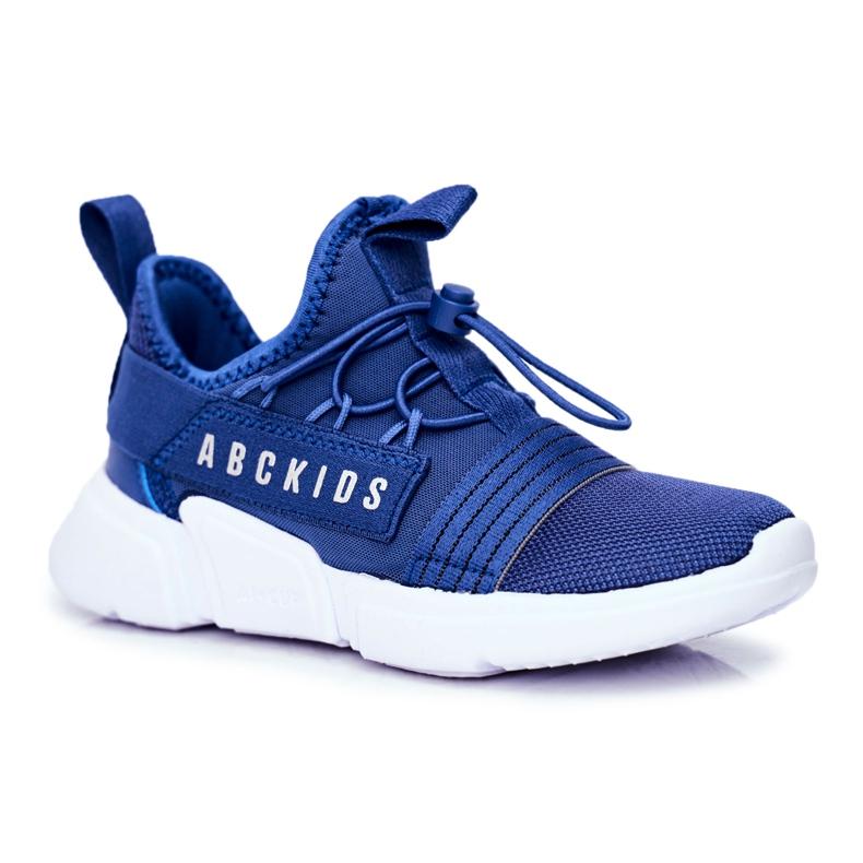 Sportowe Buty Dziecięce Młodzieżowe Granatowe ABCKIDS B012310074