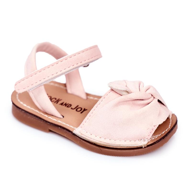 FRROCK Dziecięce Sandałki Na Rzep Różowe Goofy