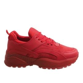 Czerwone modne obuwie sportowe A88-18