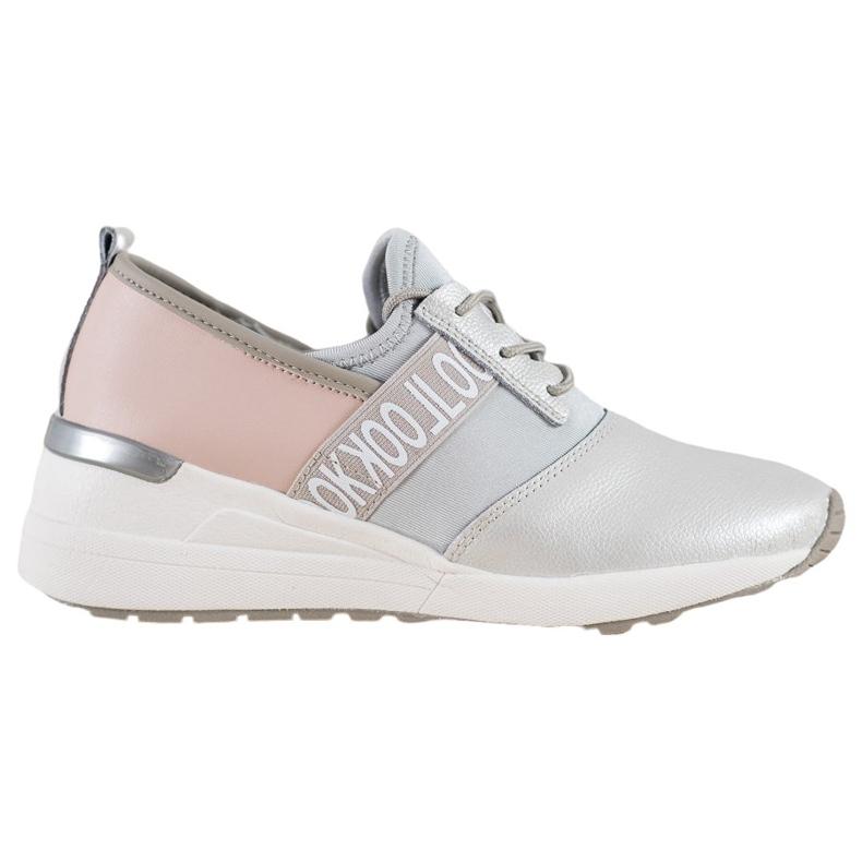 Skórzane Sneakersy Look VINCEZA szare