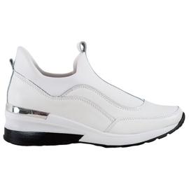 Wsuwane Buty Ze Skóry VINCEZA białe