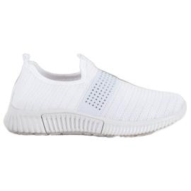 SHELOVET Wsuwane Buty Sportowe białe