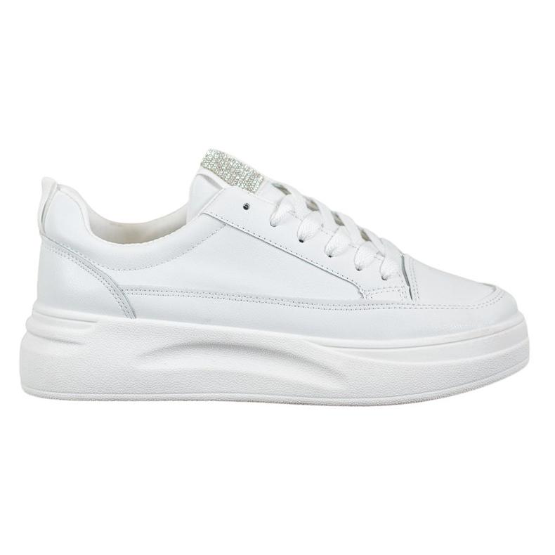 SHELOVET Trampki Na Platformie Fashion białe