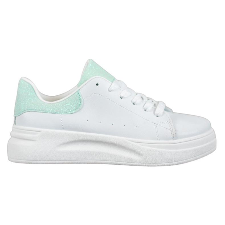 SHELOVET Buty Sportowe Na Platformie białe