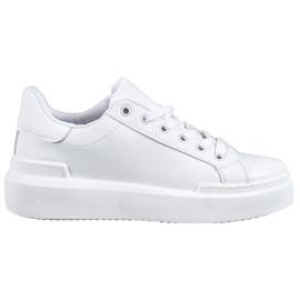 Renda Białe Sneakersy Na Platformie