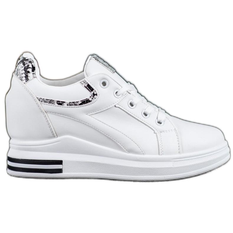 Lovery Sneakersy Na Koturnie białe