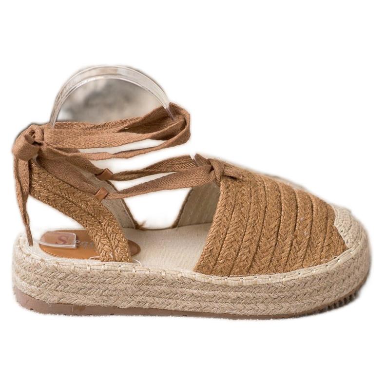 Seastar Wiązane Sandały Espadryle brązowe