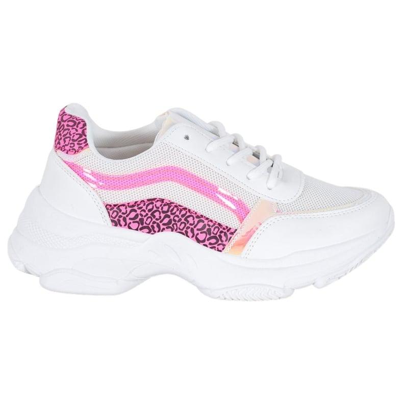 Marquiz Sneakersy Z Neonowymi Wstawkami białe wielokolorowe