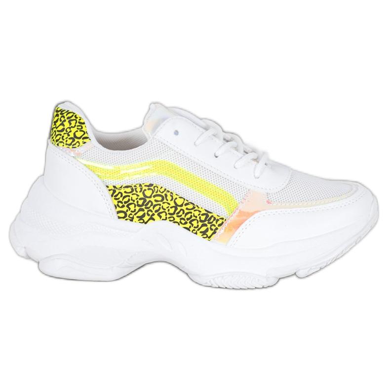 Marquiz Sneakersy Neonowymi Wstawkami białe wielokolorowe