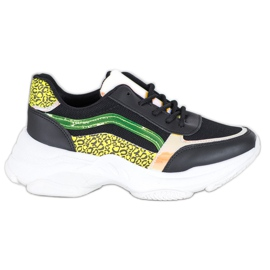 Marquiz Sneakersy Z Neonowymi Wstawkami czarne wielokolorowe