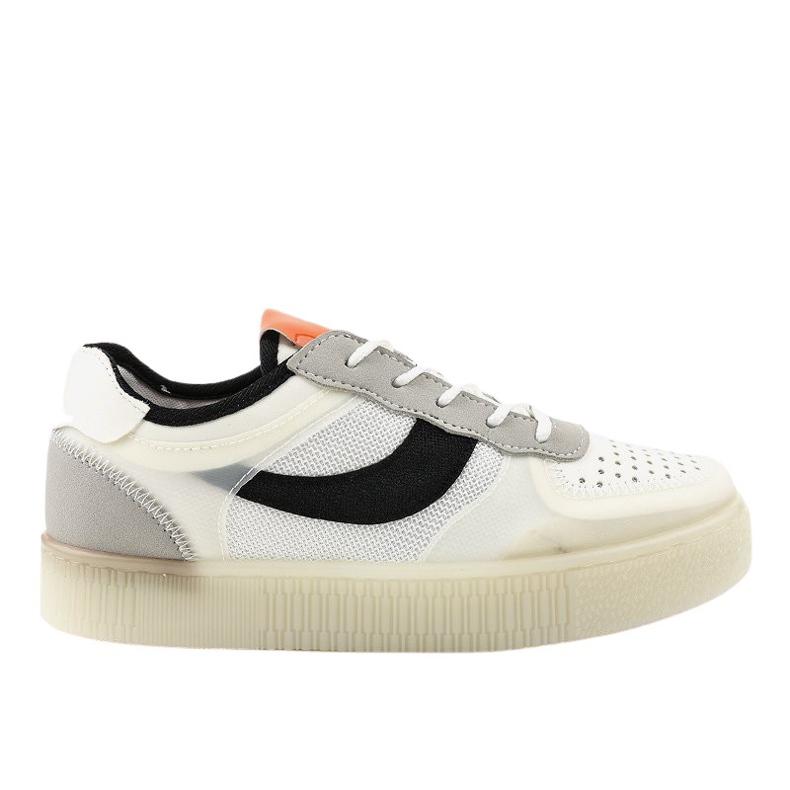 Białe obuwie sportowe sneakersy LA51P