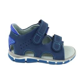 Sandałki na rzepy Mazurek 314 granat/niebieski granatowe niebieskie
