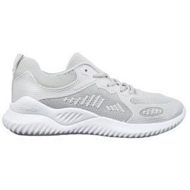 SHELOVET Sneakersy Z Siateczką szare