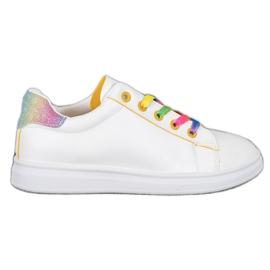 SHELOVET Modne Buty Sportowe białe