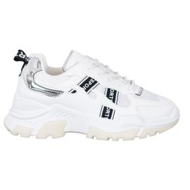 SHELOVET Białe Sneakersy Sport