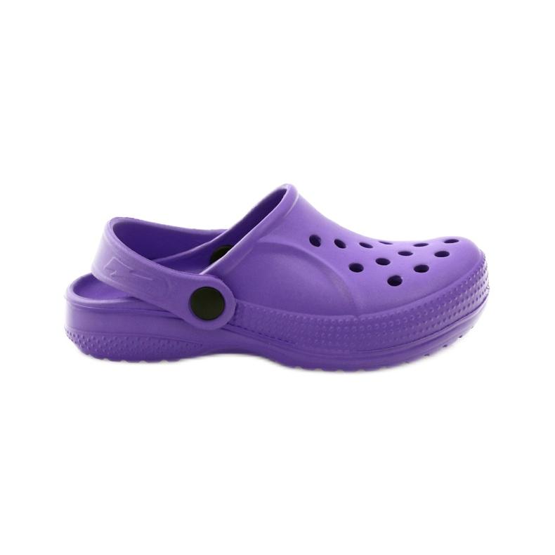 Befado Crocs obuwie dziecięce klapki 159Y002 fioletowe