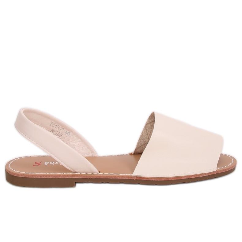 Sandałki damskie beżowe TU150P Beige brązowe