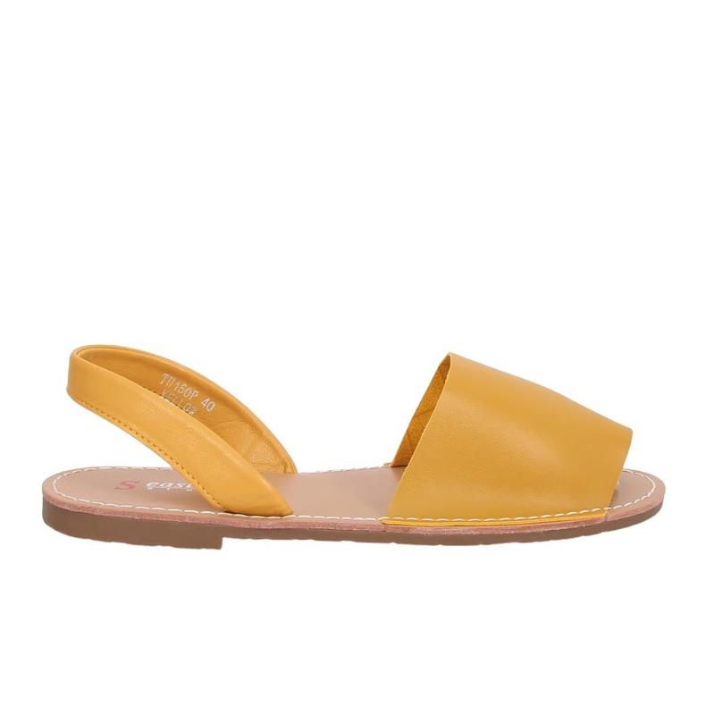 Sandałki damskie miodowe TU150P Yellow żółte