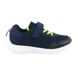 NEWS buty sportowe na rzepy 20DZ55-2312 granatowe zielone