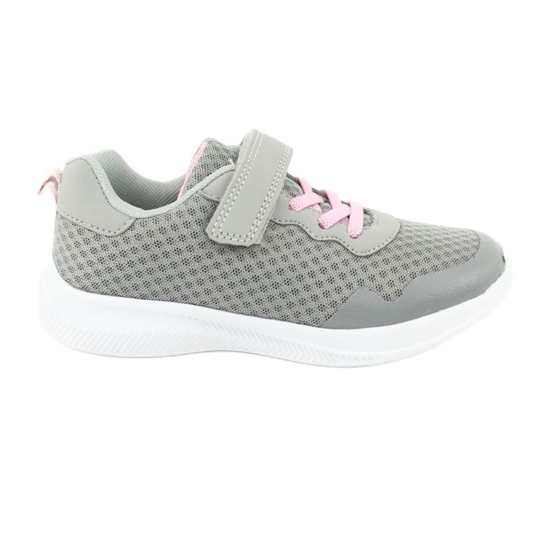 NEWS buty sportowe na rzepy 20DZ55-2312 różowe szare