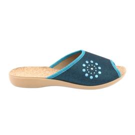 Befado obuwie damskie pu 254D105 niebieskie