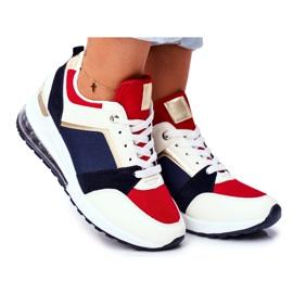 ADY Damskie Sneakersy Sportowe Czerwone Sparks beżowy granatowe wielokolorowe