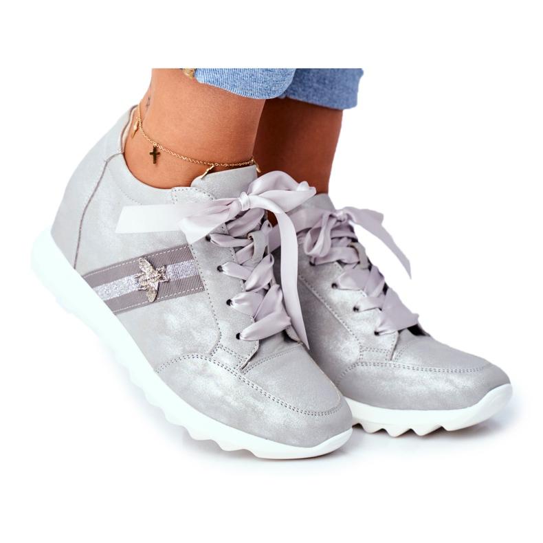 Sneakersy Damskie M.DASZYŃSKI Szare SA170-2