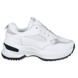 SHELOVET Białe Sneakersy Sportowe
