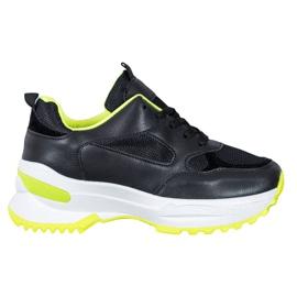 SHELOVET Czarne Sneakersy Sportowe