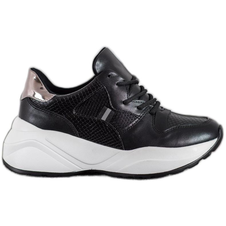 Weide Lekkie Czarne Sneakersy