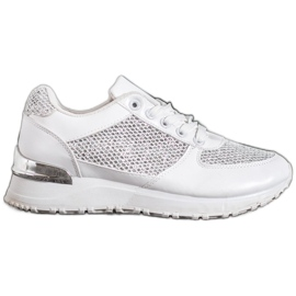 SHELOVET Stylowe Białe Buty Sportowe