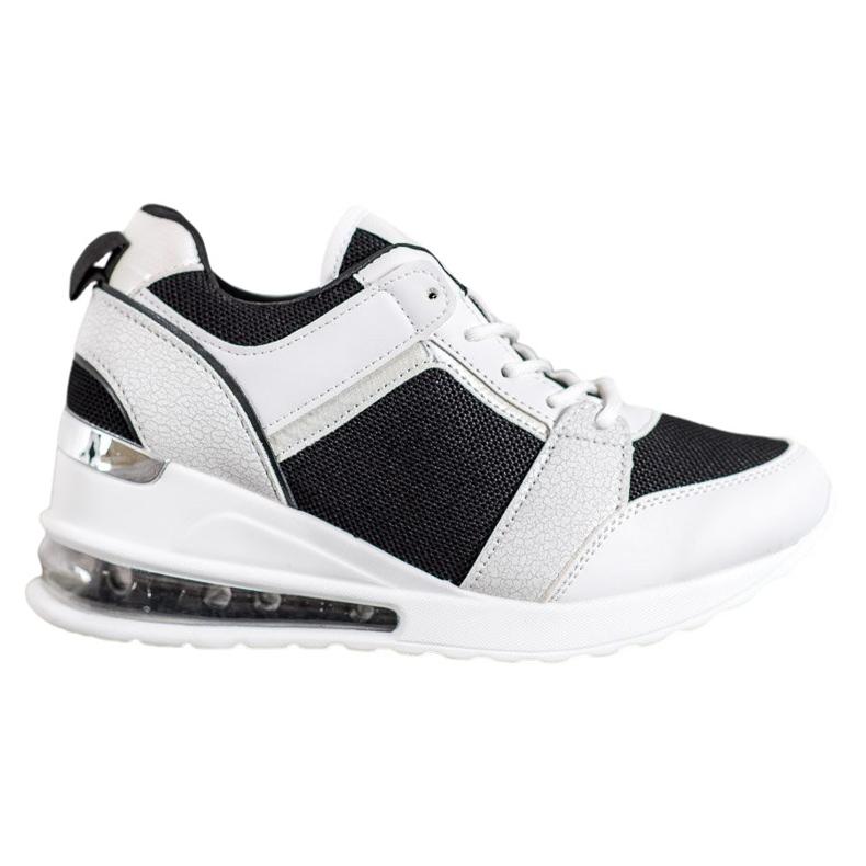 Weide Sneakersy Na Koturnie Fashion białe czarne