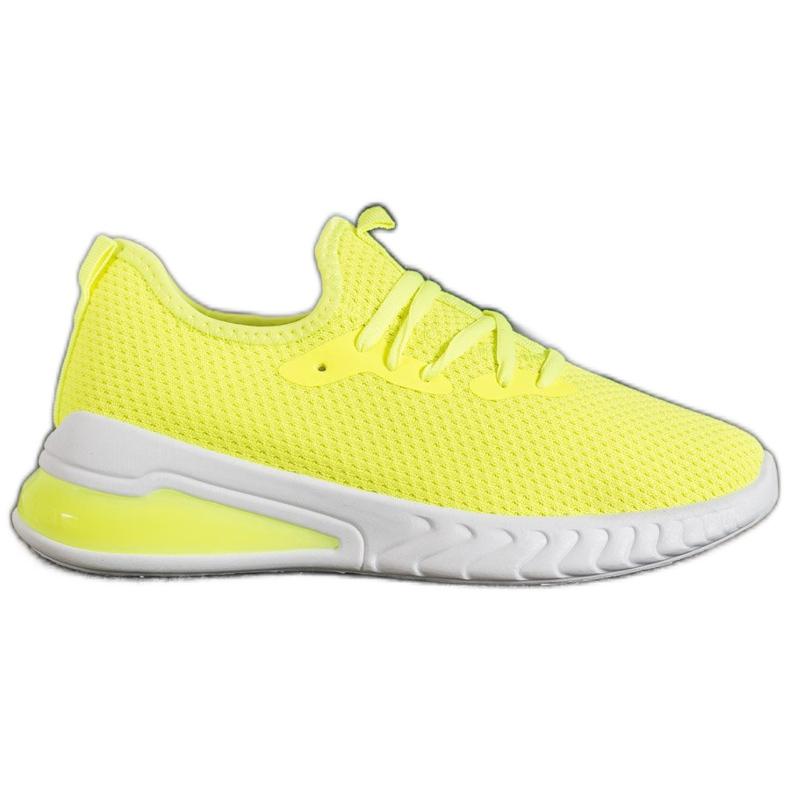 SHELOVET Tekstylne Sneakersy żółte