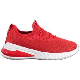 SHELOVET Tekstylne Sneakersy czerwone