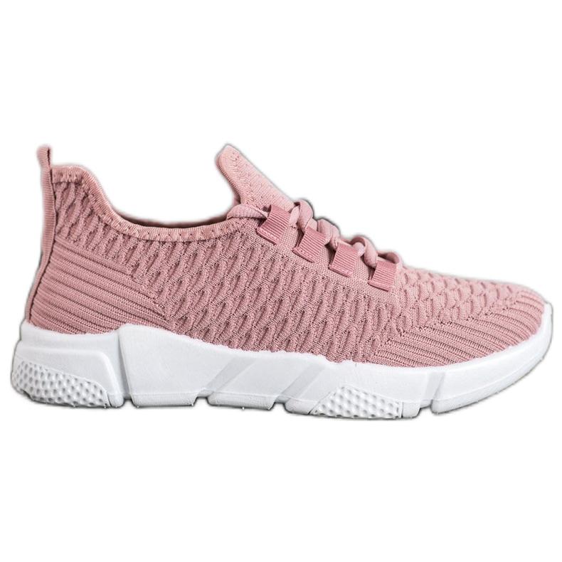 SUPER COOL Różowe Sneakersy Tekstylne