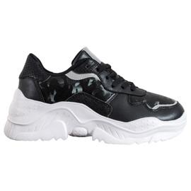 SHELOVET Lekkie Sneakersy czarne