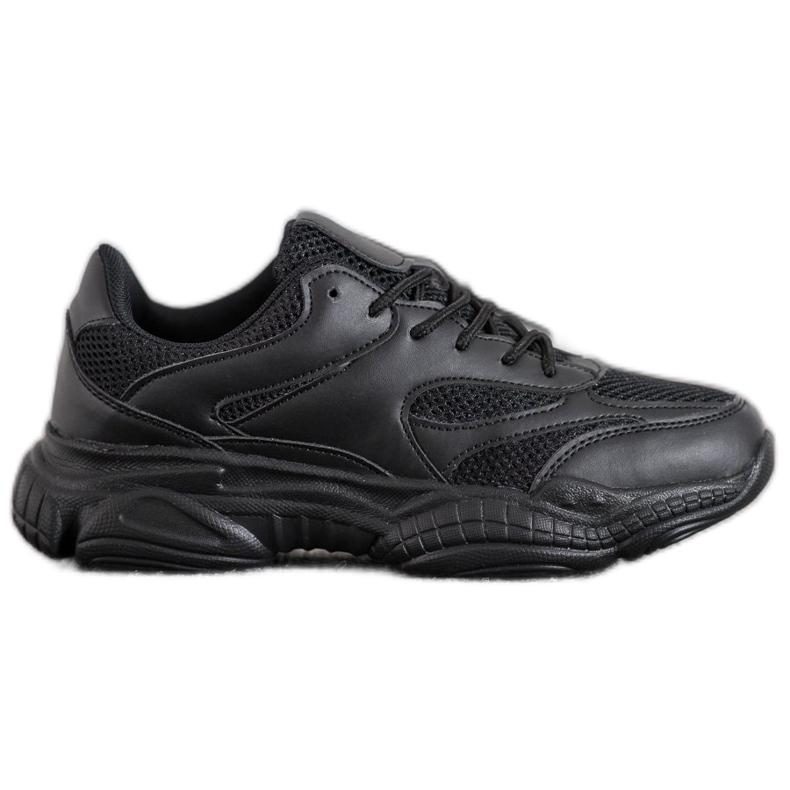 SHELOVET Lekkie Czarne Sneakersy