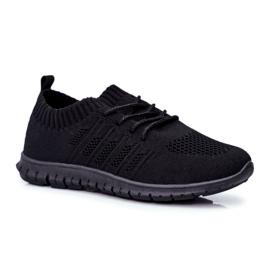 EVE Sportowe Buty Dziecięce Czarne Filip