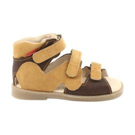 Sandałki wysokie profilaktyczne Mazurek 291 brązowe żółte